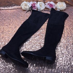 Marc Fisher Black Over the Knee Boots